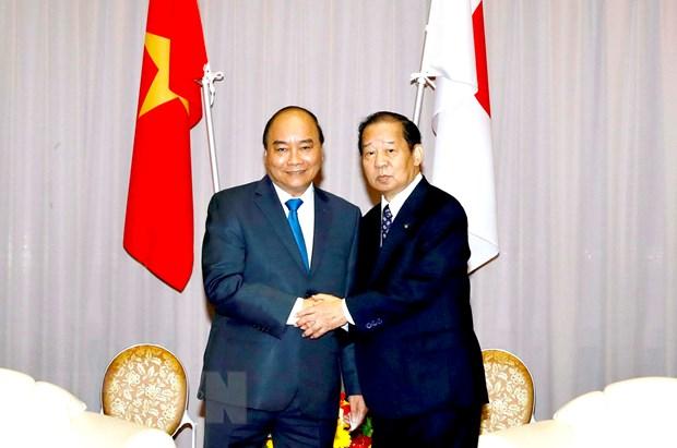 Thu tuong tiep Chu tich Lien minh Nghi sy huu nghi Nhat Ban-Viet Nam hinh anh 1