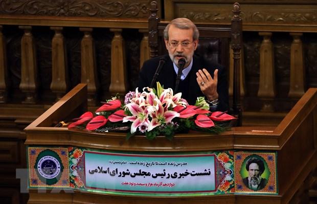 Chu tich Quoc hoi Iran: Loi de doa cua My da doan ket noi bo Iran hinh anh 1