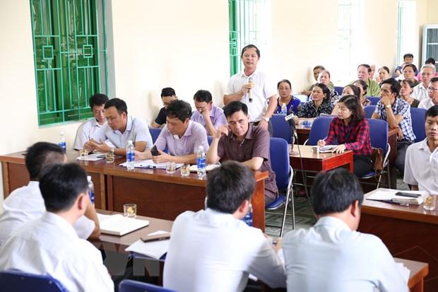 Ha Noi doi thoai voi 120 ho dan vung anh huong bai rac Nam Son hinh anh 1