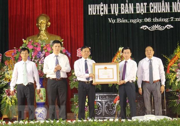 Huyen Vu Ban cua tinh Nam Dinh dat chuan nong thon moi hinh anh 1