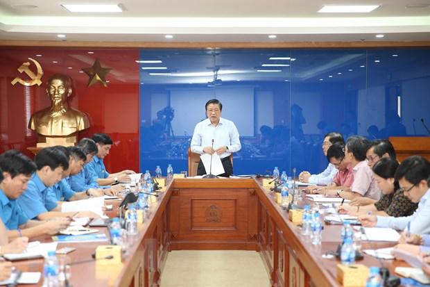 Công bố quyết định kiểm tra Đảng đoàn Tổng Liên đoàn Lao động