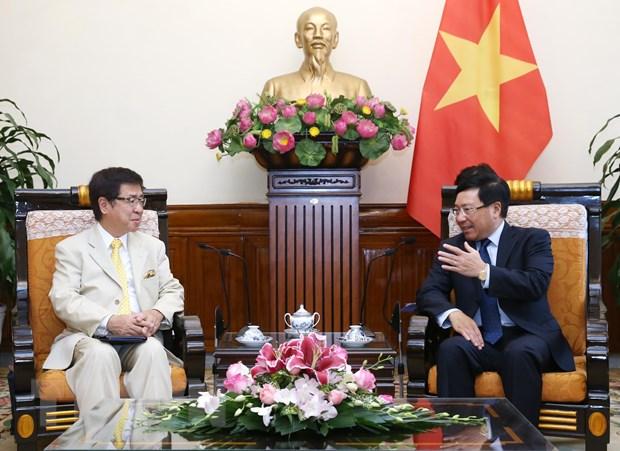 PTT Pham Binh Minh tiep Tro ly Chanh Van phong Noi cac Nhat Ban hinh anh 1