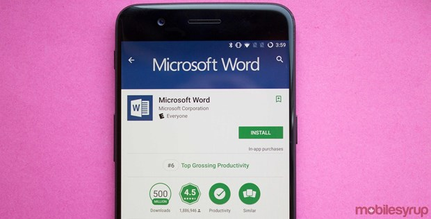 Phien ban Android cua Microsoft Word vuot moc 1 ty luot cai dat hinh anh 1