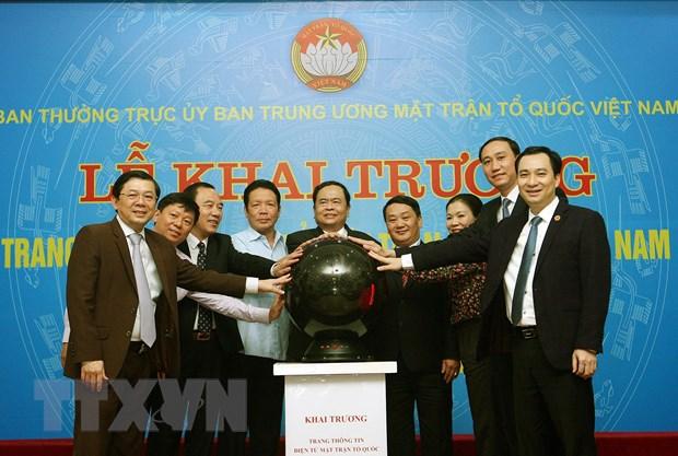 Ra mat Trang thong tin dien tu Mat tran To quoc Viet Nam phien ban moi hinh anh 1
