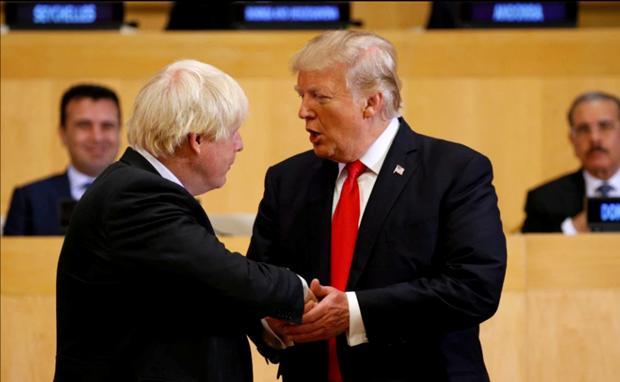 Tong thong My Trump va Thu tuong Anh Johnson co cuoc dien dam dau tien hinh anh 1
