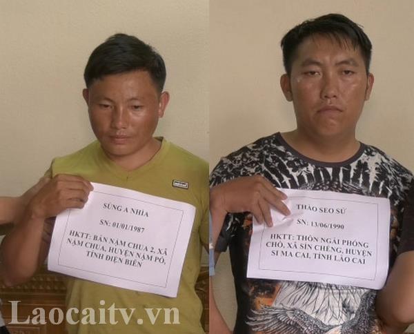 Cong an Lao Cai bat giu hai doi tuong mua ban trai phep 10 banh heroin hinh anh 1