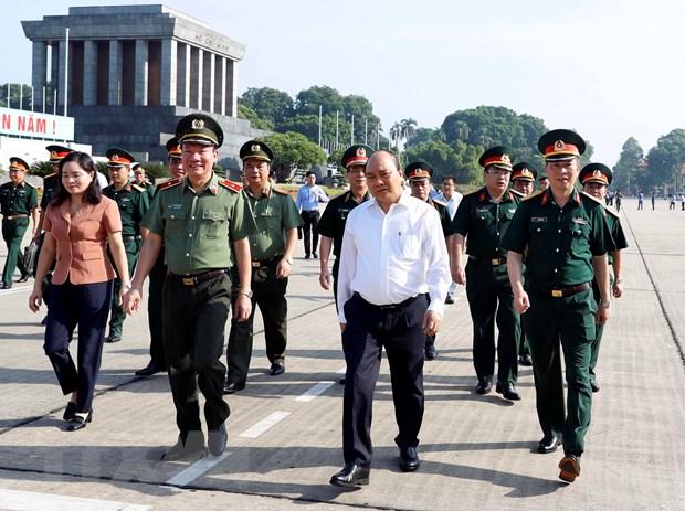 Thu tuong kiem tra cong tac tu bo Lang Chu tich Ho Chi Minh hinh anh 1