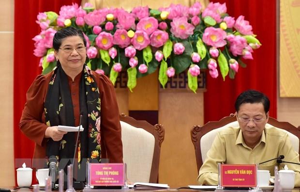 Pho Chu tich Thuong truc Quoc hoi lam viec voi tinh Quang Ninh hinh anh 1