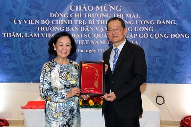 Truong Ban Dan van Trung uong Truong Thi Mai tham, lam viec tai Qatar hinh anh 3