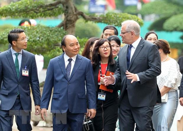 Thu tuong Nguyen Xuan Phuc don, hoi dam voi Thu tuong Australia hinh anh 1