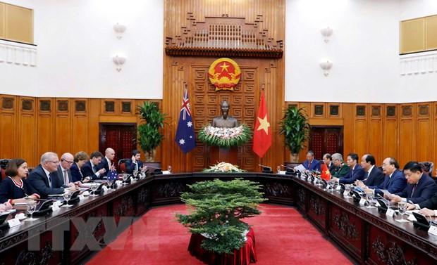 Thu tuong Nguyen Xuan Phuc don, hoi dam voi Thu tuong Australia hinh anh 2