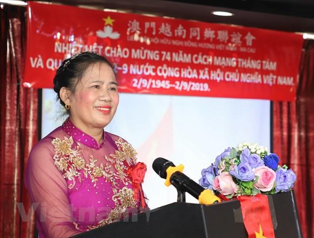 Nguoi Viet tai Macau trang trong ky niem 74 nam Quoc khanh hinh anh 1