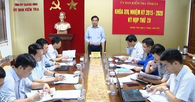 Uy ban Kiem tra Tinh uy Quang Ninh yeu cau ky luat 3 dang vien vi pham hinh anh 1