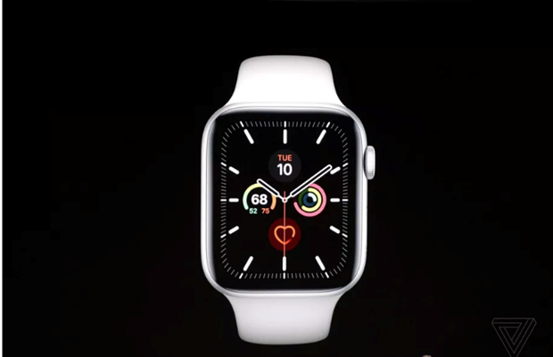 Apple Watch Series 5 co man hinh luon bat va them vo titan, gom hinh anh 1