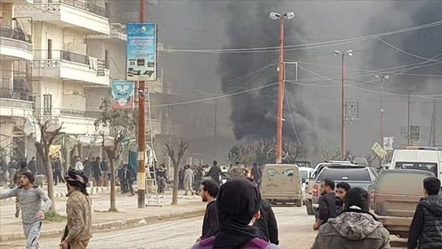 Syria: Danh bom xe khien nhieu dan thuong thiet mang hinh anh 1