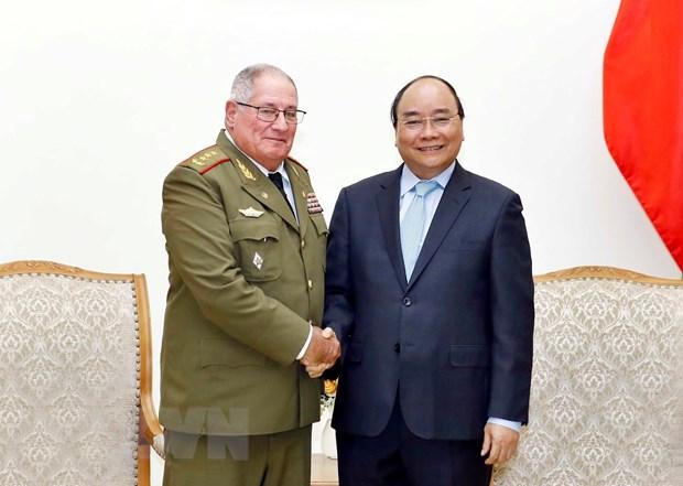 Thu tuong Nguyen Xuan Phuc tiep Tong Tham muu truong Cuba hinh anh 1