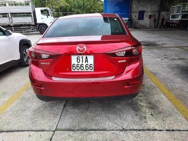 Canh sat Giao thong Binh Duong thong tin ve cap bien so xe 61A 666.66 hinh anh 1