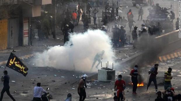 Iraq gioi nghiem tai nhieu khu vuc, no tai Vung Xanh o Baghdad hinh anh 1