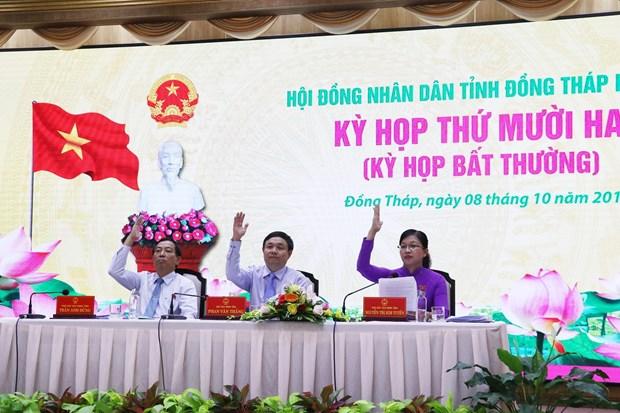 HDND tinh Dong Thap thong qua 15 nghi quyet quan trong hinh anh 1