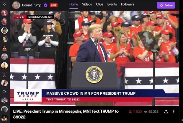 Ong Trump tham gia nen tang phat truc tuyen tro choi video Twitch hinh anh 1