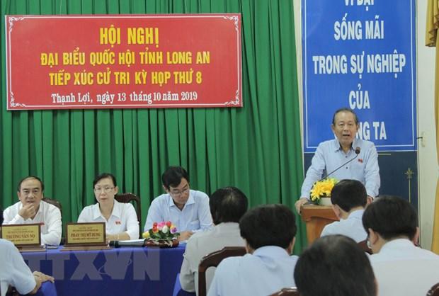 Pho Thu tuong Truong Hoa Binh tra loi cu tri ve van de Bien Dong hinh anh 1