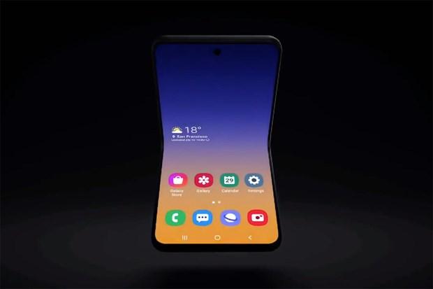 Samsung gioi thieu ban dung mau dien thoai man hinh gap moi hinh anh 1
