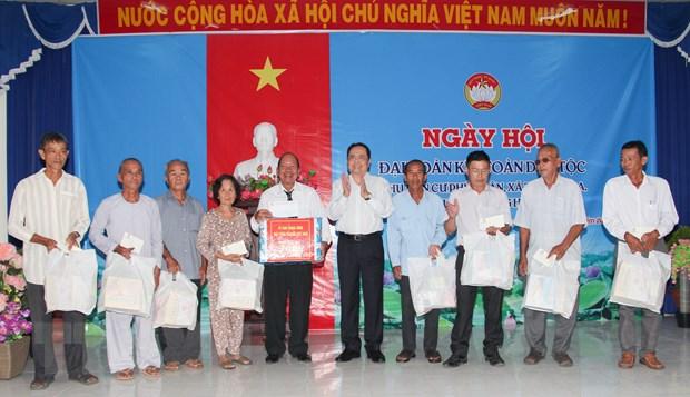 Chu tich MTTQ Viet Nam du Ngay hoi Dai doan ket tai Hau Giang hinh anh 1