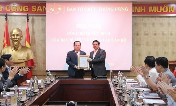 Ban Bi thu bo nhiem Pho Truong Ban To chuc Trung uong hinh anh 1