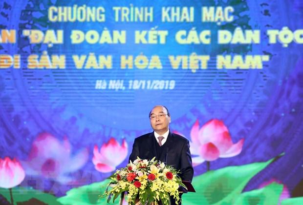 """Thu tuong du khai mac Tuan """"Dai doan ket cac dan toc-Di san Van hoa"""