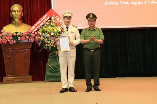 Bo nhiem Giam doc va Pho Giam doc Cong an tinh Dong Nai hinh anh 1