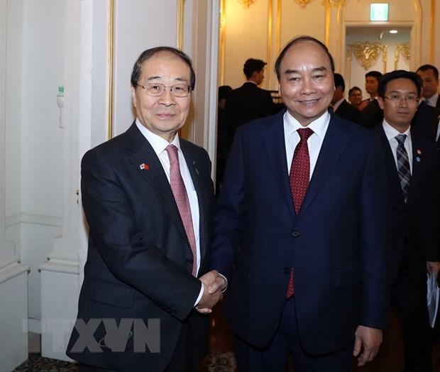 Thu tuong Nguyen Xuan Phuc tiep Chu tich Hoi Huu nghi Han-Viet hinh anh 1