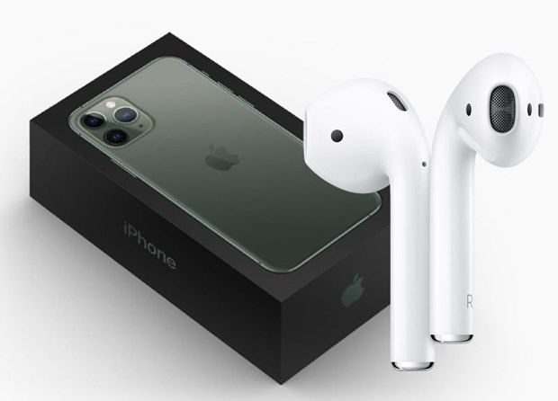DigiTimes: Apple dang can nhac viec dong goi AirPods voi iPhone 2020 hinh anh 1