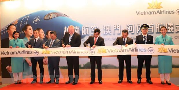 Vietnam Airlines khai truong duong bay thang Ha Noi-Macau hinh anh 1