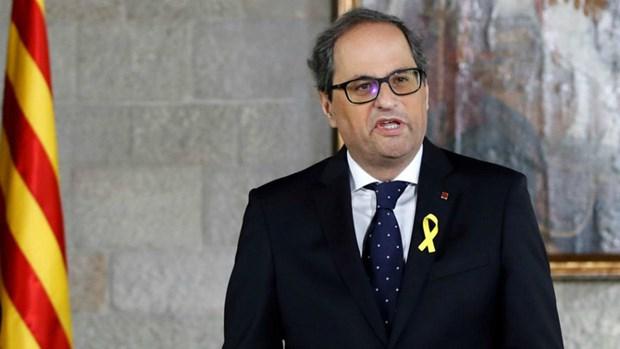 Tay Ban Nha: Quyen Thu tuong Sanchez dong y gap Thu hien Catalonia hinh anh 1