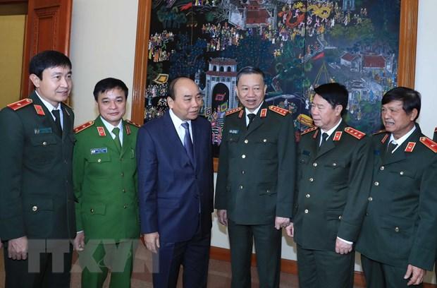 Thu tuong Nguyen Xuan Phuc du Hoi nghi Dang uy Cong an Trung uong hinh anh 1