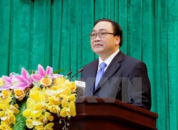 Ông Hoàng Trung Hải, Ủy viên Bộ Chính trị, Bí thư Thành ủy Hà Nội. Nguồn: TTXVN