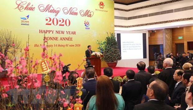 Gap mat Doan Ngoai giao nhan dip Tet Nguyen dan Canh Ty 2020 hinh anh 1