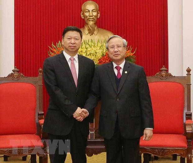 Thuong truc Ban Bi thu tiep Doan Dai bieu Dang Cong san Trung Quoc hinh anh 1