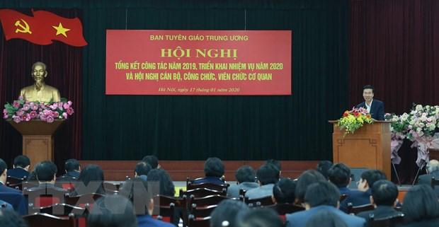 Ban Tuyen giao Trung uong trien khai nhiem vu nam 2020 hinh anh 1