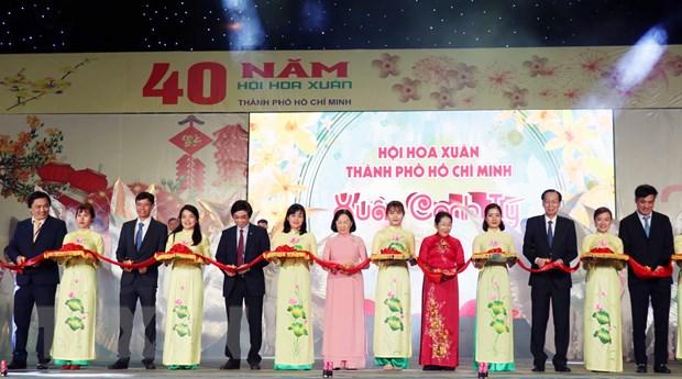 Khai mac Hoi hoa Xuan Thanh pho Ho Chi Minh Canh Ty 2020 hinh anh 1