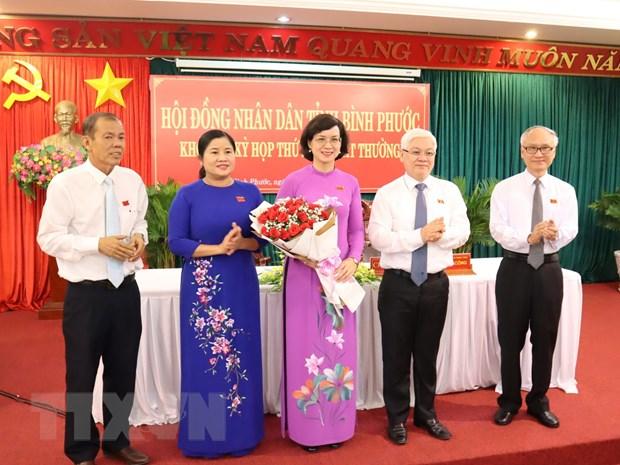 Ba Tran Tuyet Minh duoc bau giu chuc Pho Chu tich tinh Binh Phuoc hinh anh 1