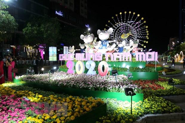 Sac thai van hoa hoi tu tren Duong hoa Nguyen Hue Xuan Canh Ty 2020 hinh anh 3