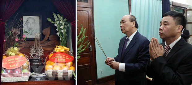 Thu tuong dang huong tuong nho Chu tich Ho Chi Minh tai Di tich Nha 67 hinh anh 1