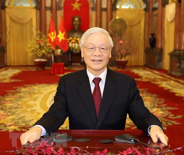 Tong Bi thu, Chu tich nuoc Nguyen Phu Trong chuc Tet Canh Ty 2020 hinh anh 1