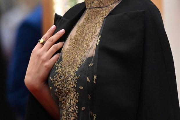 Natalie Portman gay soc voi chiec ao dac biet tai le trao giai Oscar hinh anh 1