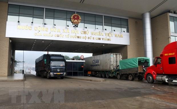 Xuat khau tren 6.500 tan nong san qua cua khau Lao Cai hinh anh 1