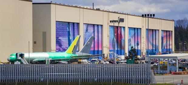 Boeing tam ngung san xuat tai mot nha may lon o bang Washington hinh anh 1