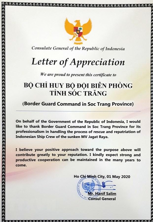 Tong Lanh su quan Indonesia cam on Bo doi Bien phong Soc Trang hinh anh 2