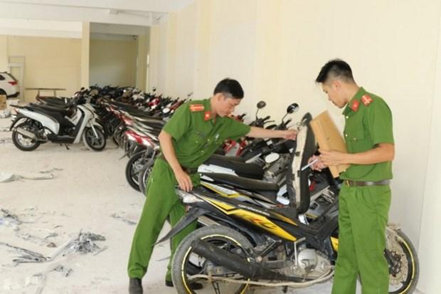 Quang Binh tam giu 60 xe moto da qua su dung khong ro nguon goc hinh anh 1
