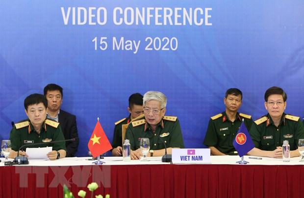Hinh anh Hoi nghi truc tuyen Quan chuc Quoc phong cap cao ASEAN hinh anh 4